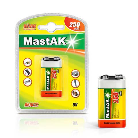 Аккумуляторы MastAK 6F22/1bl 250mAh Ni-MH