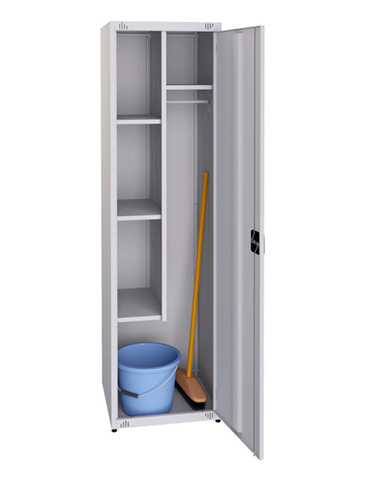 Компактный металлический шкаф для инвентаря (1860х500х500 мм)