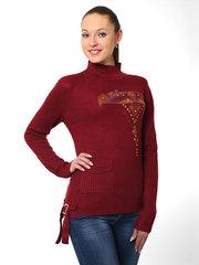 K5125 кофта женская, бордовая