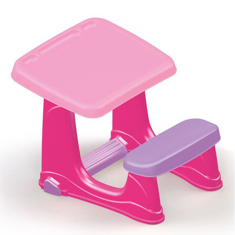 Парта со скамейкой розового цвета