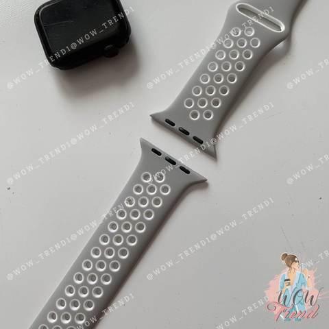 Ремешок Apple watch 42/44mm Sport Nike /platinum white/ светло-серый белый