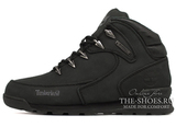 Женские Ботинки Timberland Euro Sprint Waterproof Black С Мехом