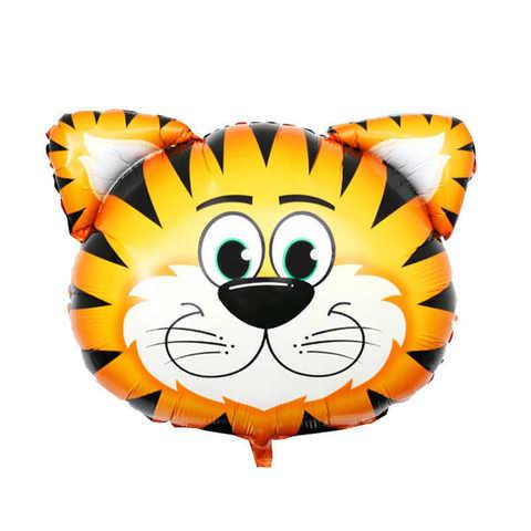 Фольгированный шар «Голова тигра», 74 см.