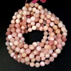 Бусины розовый опал граненый 6,2 мм