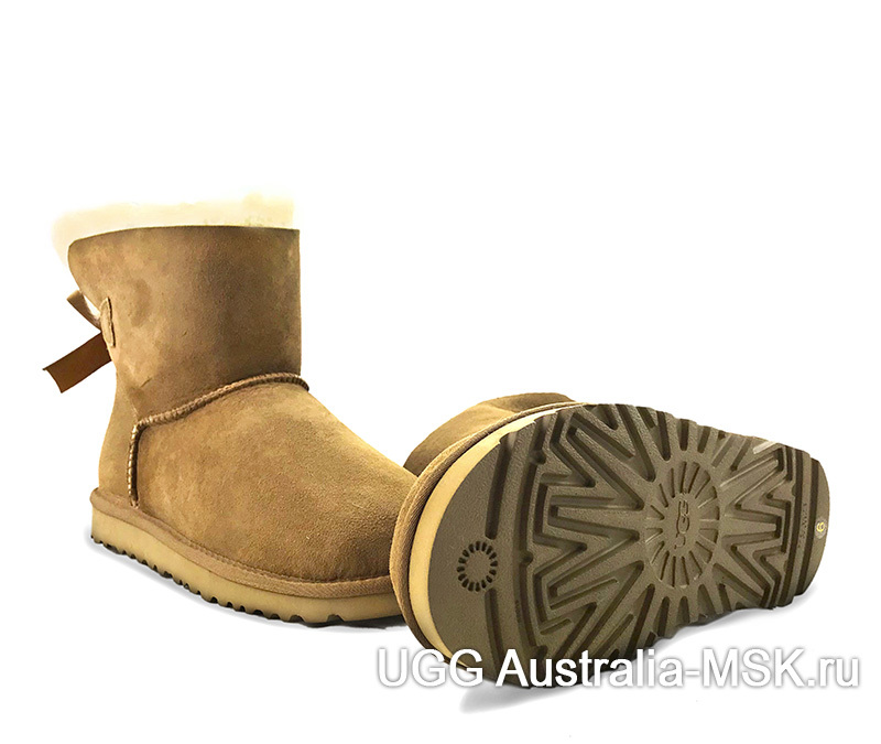 UGG Bailey Bow II Mini Chestnut