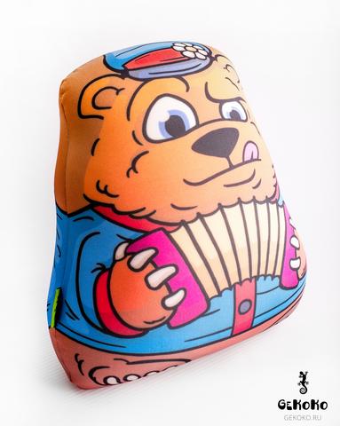 Подушка-игрушка антистресс «Медведь-гармонист» 3