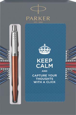 Подарочный набор с блокнотом и Шариковая ручка Parker Jotter Essential, Chelsea Orange CT123
