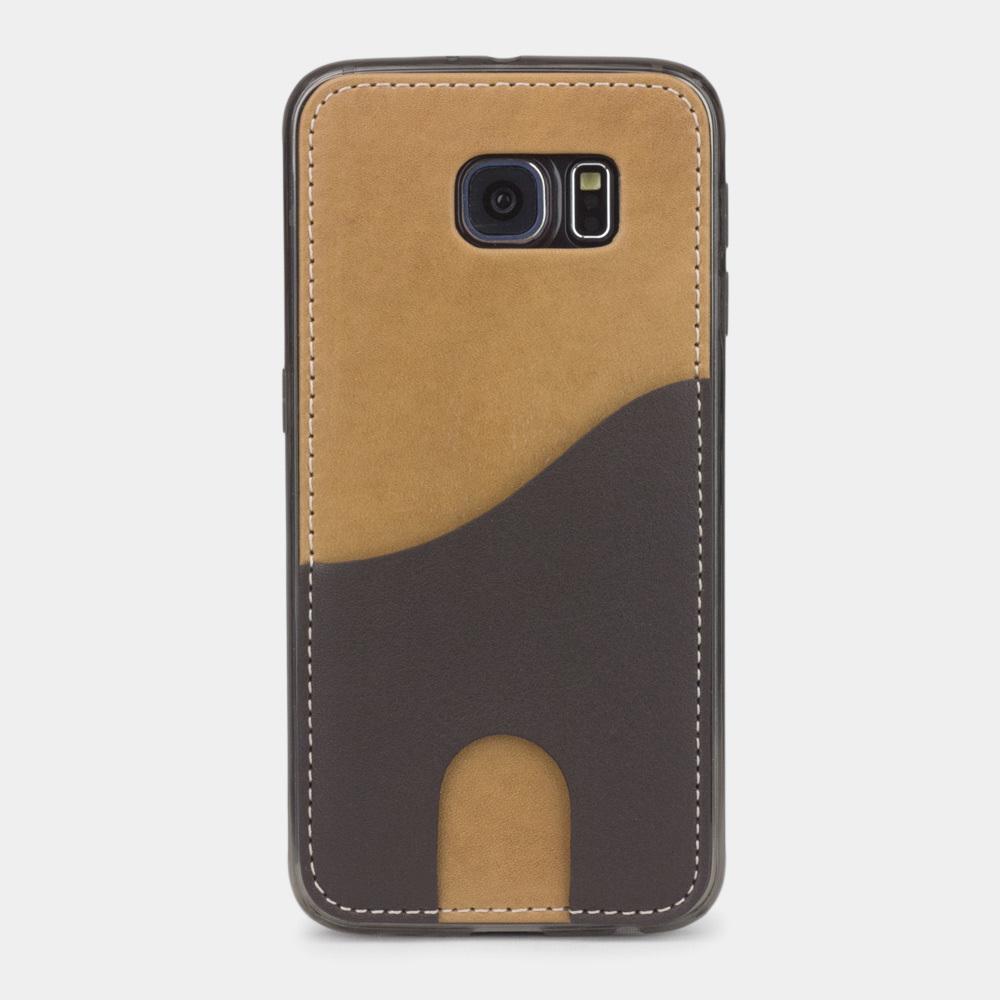 Чехол-накладка Andre для Samsung S6 из натуральной кожи теленка, цвета винтаж