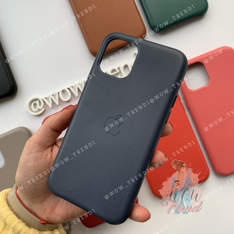 Чехол iPhone 11 Pro Max Leather Case /midnight blue/