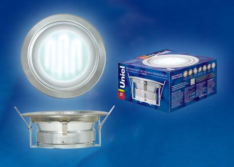 GX70/Н-6R Серебро. Светильник встраиваемый с рефлектором. Картонная упаковка.