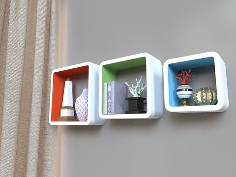 Комплект полок «Амстердам», разноцветные, 3 шт