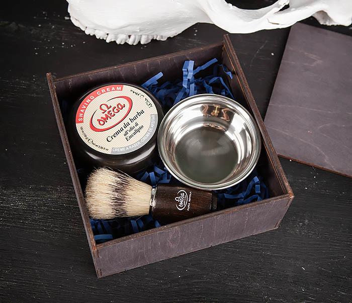 PSET102 Подарочный набор из помазка, чаши и мыла для бритья фото 03