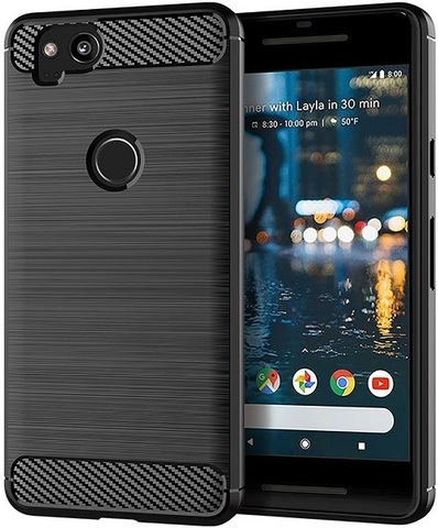 Чехол Google Pixel2 цвет Black (черный), серия Carbon, Caseport