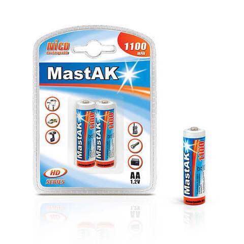 Аккумуляторы MastAK R 06/2bl 1100mAh Ni-CD