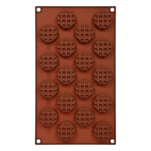 Форма для выпечки из силикона «Круглое печенье» 30х17,5 см, 18 ячеек