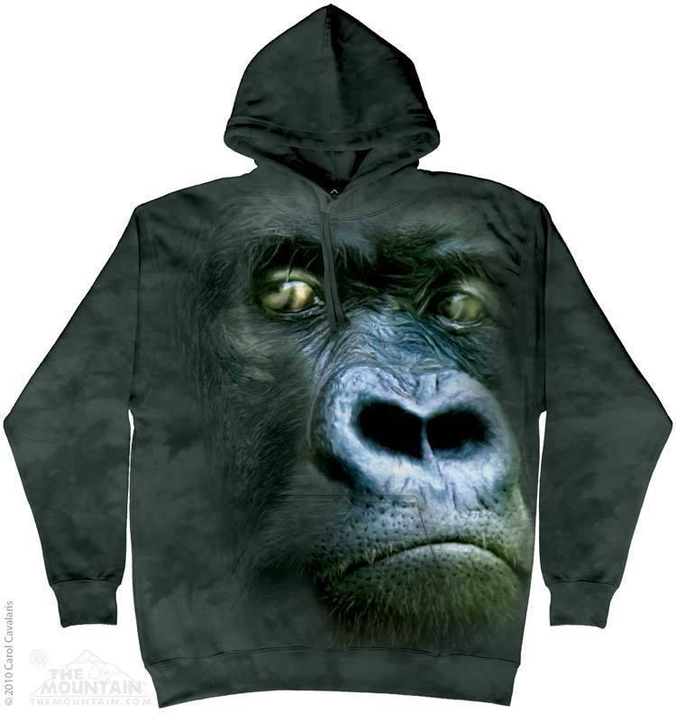 Толстовка Mountain с изображением самца гориллы - Silverback Portrait Hoodie
