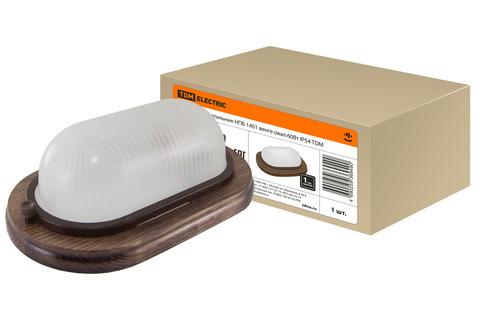 Светильник НПБ1401 венге овал 60Вт IP54 TDM