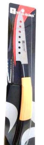 Кухонный нож YG-191 узкий с отверстиями 120мм