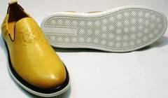 Повседневные туфли мужские модные King West 053-1022 Yellow-White.
