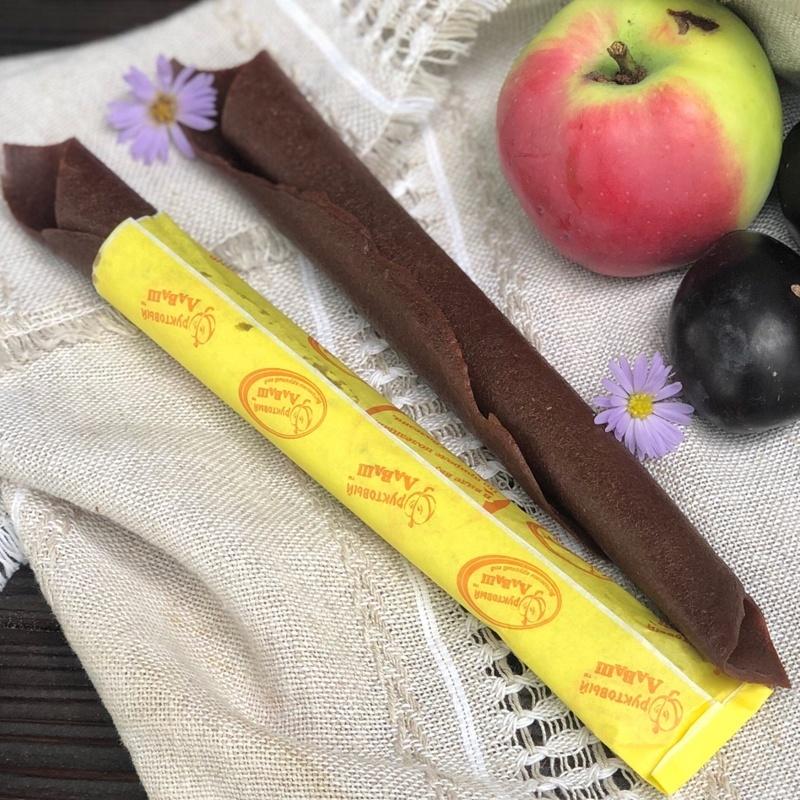 Фотография Пастила натуральная яблочно-сливовая 70 грамм купить в магазине Афлора
