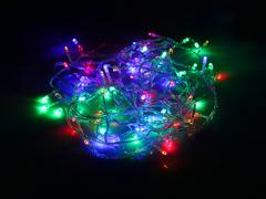 m01.5T200- гирлянда-нить 200 LED Мульти 13.5м.