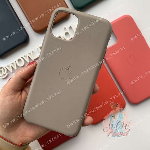 Чехол iPhone 11 Pro Max Leather Case /taupe/