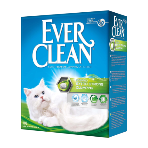 Ever Clean Extra Strong Clumping Scented Наполнитель для туалета кошек с ароматизатором комкующийся (зеленая полоска)