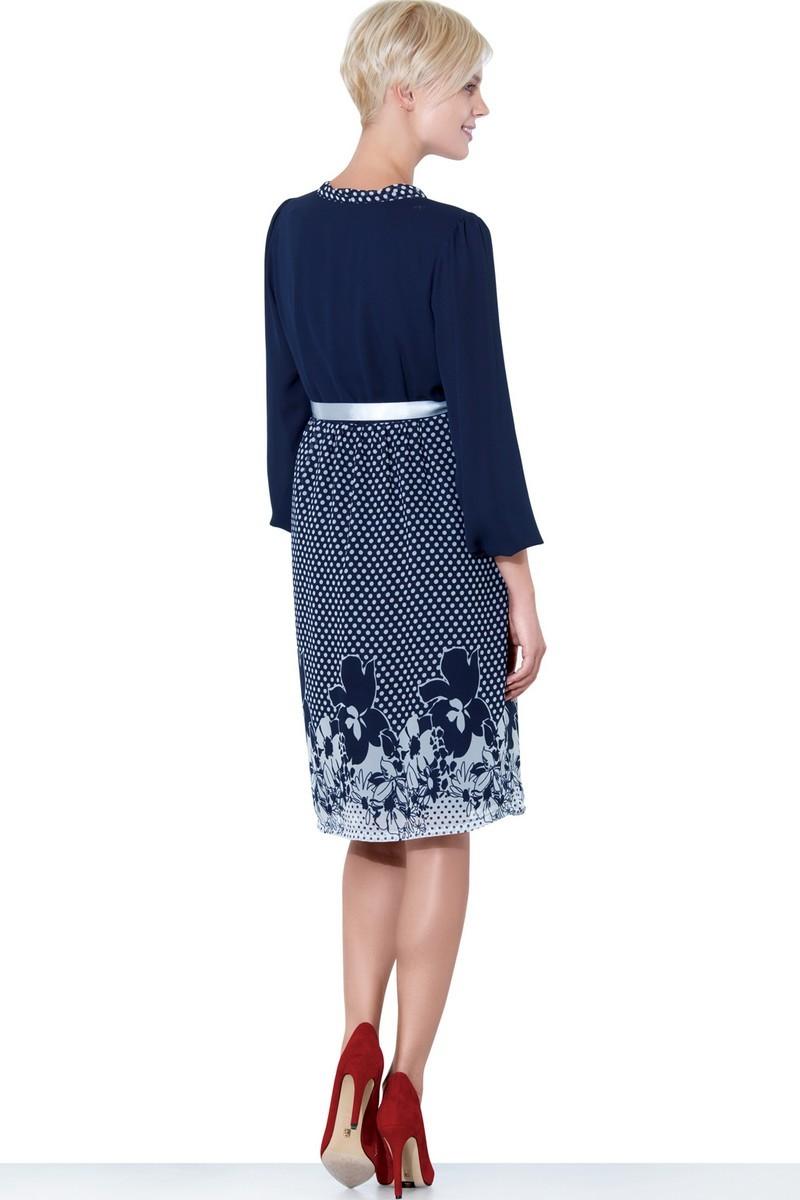 Платье для беременных 05570 синий