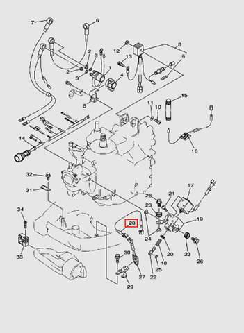 Провод  для лодочного мотора T40 Sea-PRO (10-28)
