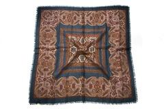 Шерстяной женский коричневый платок (0051 PLATOK 8)