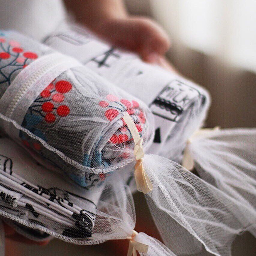 Муслиновое утеплённое одеяло Mjölk Акварель