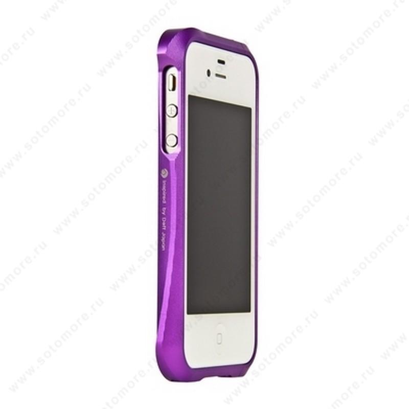 Бампер Deff CLEAVE алюминиевый для iPhone 4s/ 4 фиолетовый