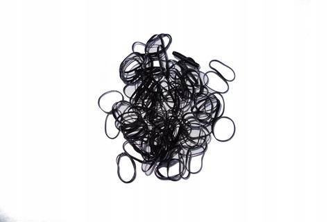 Силиконовые резинки для волос (чёрные)