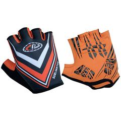 Велоперчатки JAFFSON SCG 46-0238 (чёрный/оранжевый)