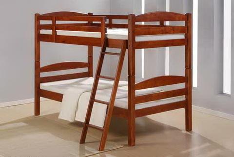 Двухъярусная кровать КОСМОС деревянная 90х200 майер браун