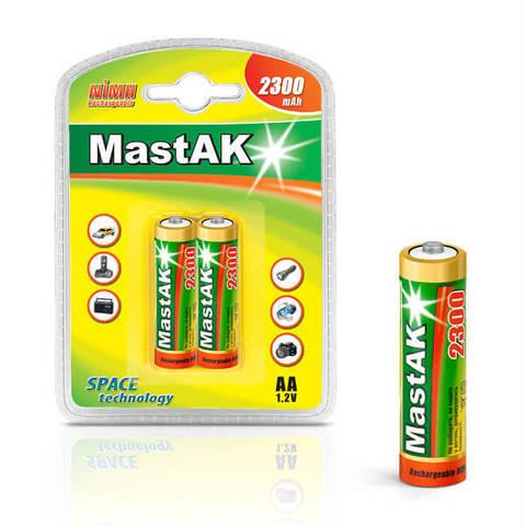 Аккумуляторы MastAK R 06/2bl 2300mAh Ni-MH