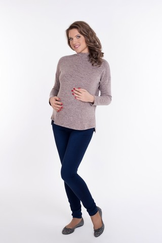 Джемпер для беременных 09075 розовый