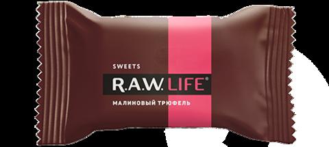 Батончик натуральный R.A.W. LIFE Малиновый трюфель
