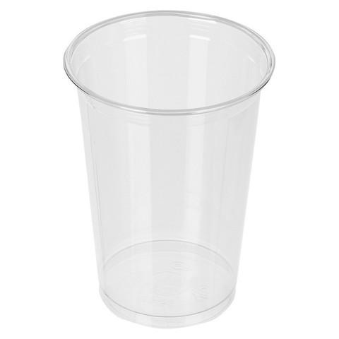 Стакан одноразовый Стандарт пластиковый прозрачный 500 мл 50 штук в упаковке
