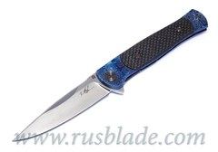 Cheburkov Pike Damascus Timascus CF one-off Knife