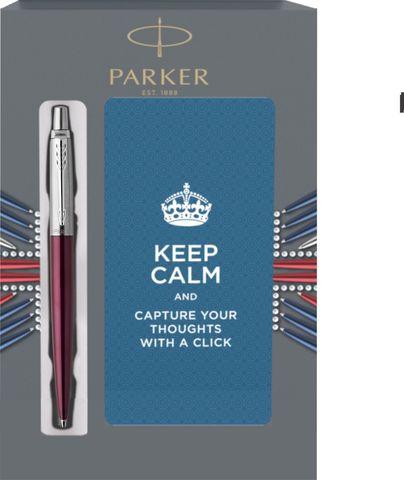 Подарочный набор с блокнотом и Шариковая ручка Parker Jotter Essential, Portobello Purple CT123