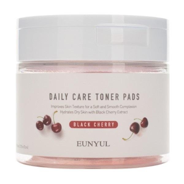 Освежающие подушечки с экстрактом черной вишни Eunyul Daily Care Black Cherry Toner Pads 70шт