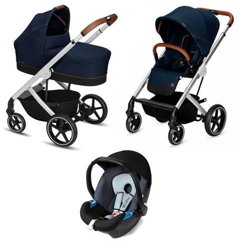 Детская коляска Cybex Balios S 3 в 1 Denim Collection Denim Blue
