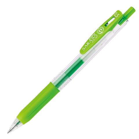 Ручка гелевая Zebra Sarasa Clip Neon Colors (неоново-зелёная 0,5 мм)