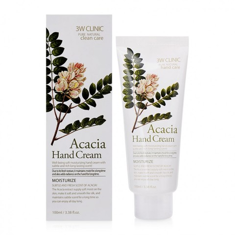 Крем для рук увлажняющий с экстрактом акации 3W CLINIC Acacia Hand Cream 100 мл