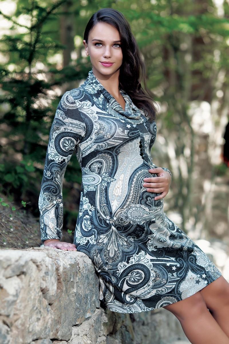 Платье для беременных 05534 разноцветный