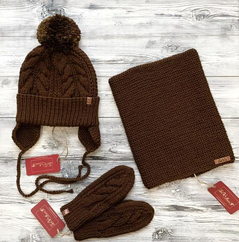 Комлект:шапка,снуд,варежки