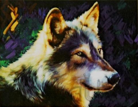 Алмазная Мозаика 30x40 Солнце освещает волка (арт. S2734)