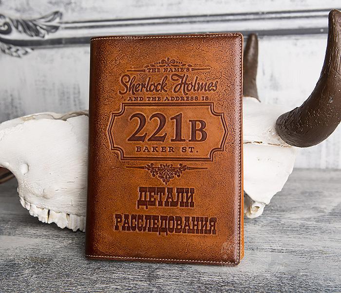 Подарочный кожаный ежедневник «Шерлок Холмс: Детали расследования»
