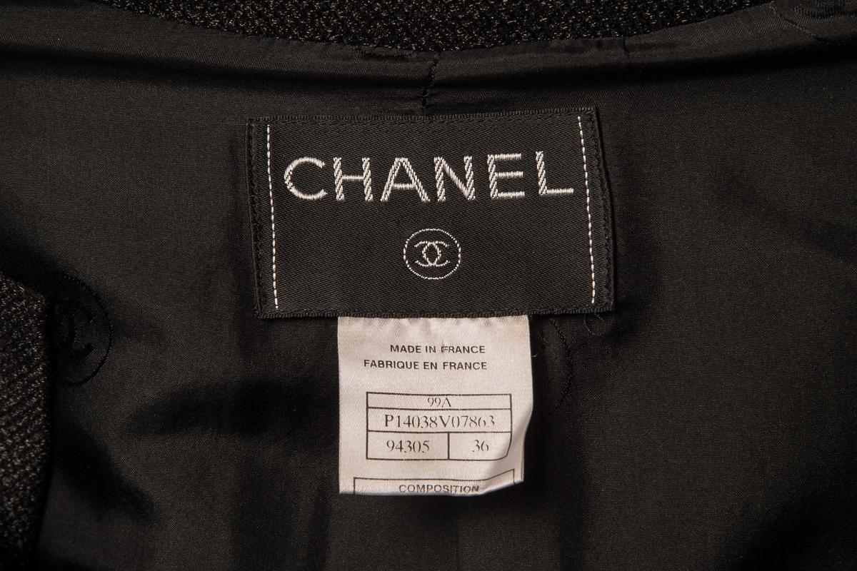 Эффектное легкое пальто черного цвета от Chanel, 36 размер.